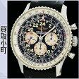ブライトリング【BREITLING】 ナビタイマー コスモノート クロノグラフ パイロットウォッチ 手巻き メンズ 革ベルト Dバックル ブラック 男性用腕時計 Ref.A122B13LBD A12022 NAVITIMER COSMONAUTE II CHRONOGRAPHE WATCH【Bランク】【中古】