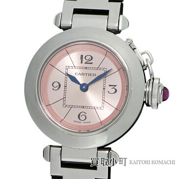【美品】カルティエ 【CARTIER】ミスパシャ レディースウォッチ 27MM ピンク クォーツ SSブレス 女性用腕時計 Ref.W3140008 MISS PASHA WATCH【Aランク】【中古】