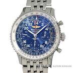 【美品】ブライトリング【BREITLING】 ナビタイマー コスモノート マーキュリー7 クロノグラフ メカニカル パイロットウォッチ メンズ SSブレス ブルー 手巻き 男性用腕時計 AB0210B4/C917 NAVITIMER COSMONAUTE CHRONOGRAPHE WATCH【SAランク】【中古】