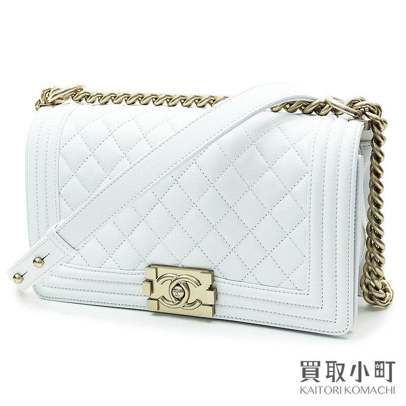 レディースバッグ, ショルダーバッグ・メッセンジャーバッグ  CHANEL A67086 27 Boy Chanel Flap Bag White leatherSA