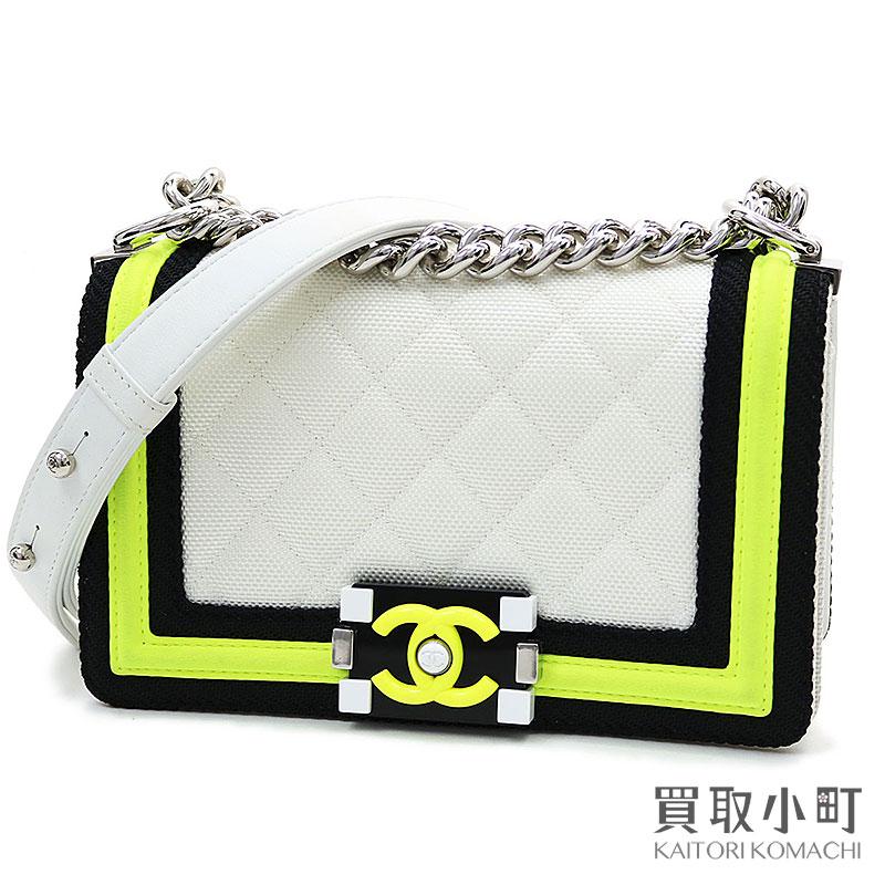 レディースバッグ, ショルダーバッグ・メッセンジャーバッグ  CHANEL A67085 22 Small Boy Chanel Fluo Flap BagAB