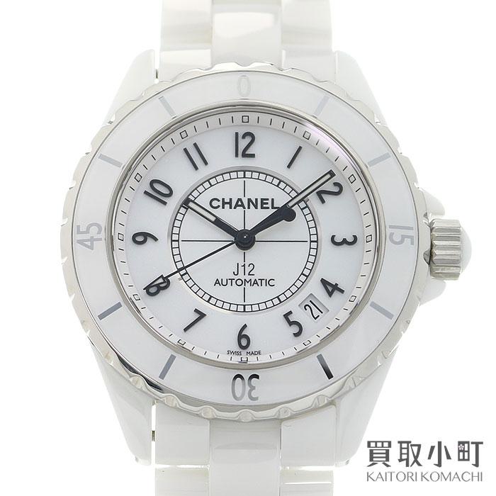 腕時計, メンズ腕時計 CHANEL J12 38mm Ref.H0970 AUTOMATIC WHITE CERAMIC WATCHSA