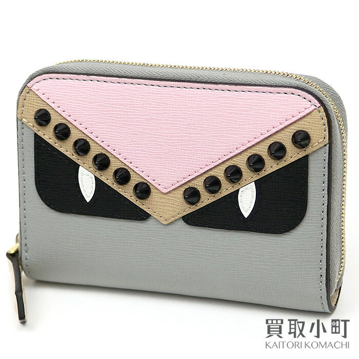 cd668133 Fendi bugs monster crayon mini-zip around wallet multicolored black Aiko in  Perth card case coin purse wallet wallet 8M0313 9HF F10Y0 BAG BUGS MONSTER  ...