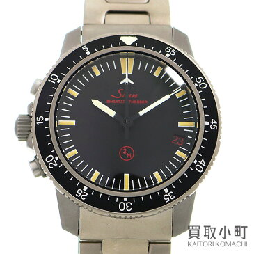 【美品】ジン 【Sinn】503 EZM1 クロノグラフ オートマティック チタンブレス メンズ ミリタリーウォッチ 自動巻き 男性用腕時計 Model 503.EZM-1 AUTOMATIC CHRONOGRAPH WATCH【Aランク】【中古】