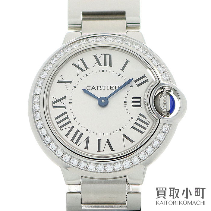 Watch W4BB0015 BALLON BLEU WATCH SM DIAMOND for the Cartier baron blue do Cartier watch 28MM diamond Ladys watch SS breath quartz diamond bezel woman