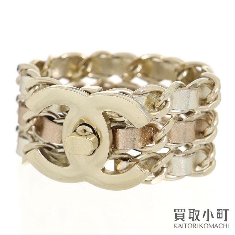 レディースジュエリー・アクセサリー, ブレスレット 3OFF! 515 CHANEL 3 B15C CC Chain leather Bracelet