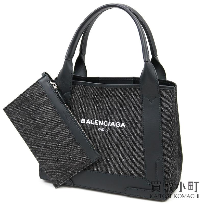 レディースバッグ, トートバッグ  BALENCIAGA S S 339933 K221N 1000 C NAVY CABAS S SMALL TOTE BAGA