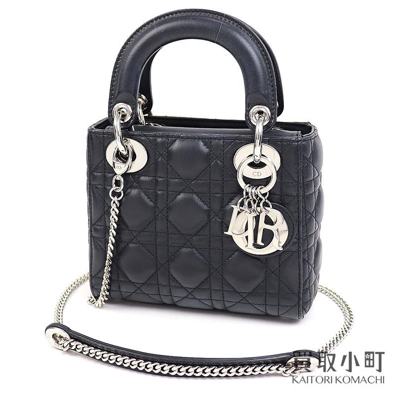 レディースバッグ, ショルダーバッグ・メッセンジャーバッグ  Chiristian Dior 2WAY M0505PCAL M900 LADYDIOR MINI CLASSIC CANNAGEAB