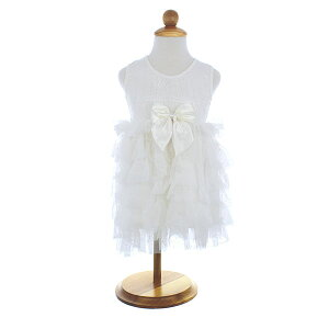 POPATU 【ポパチュ トドラー用 ガールズ ワンピース ドレス SK-875 シークイン ホワイト】
