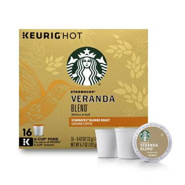 KEURIG 【 キューリグ K-Cup / スターバックス ベランダブレンド / ライトロースト コーヒー / Starbucks ライトノート / 16個入り】