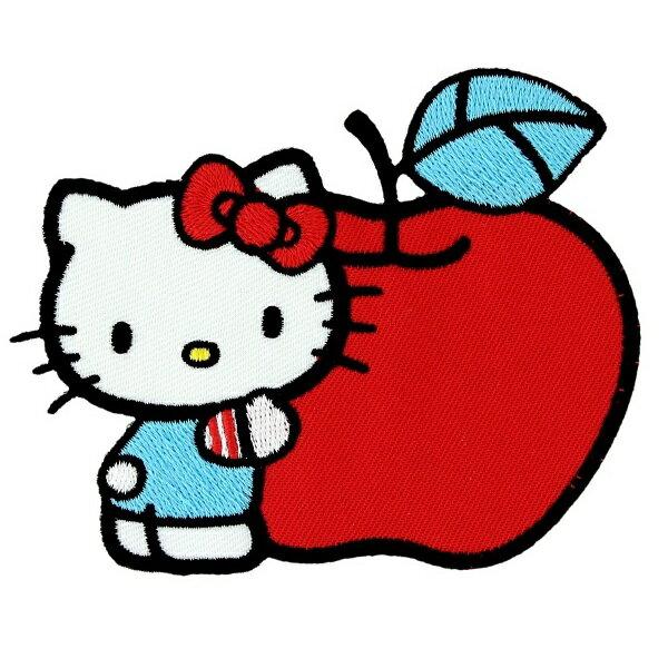 大人気!! Hello Kitty 【ハローキティ / アイロン ワッペン / キティちゃん&ビッグアップル P-HK-0027 / マルチカラー】