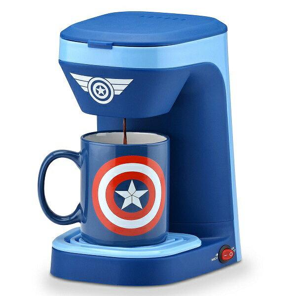 Marvel【 シングルサーブ コーヒーメーカー マグカップ セット 1カップ用 / マーベル キャプテン・アメリカ /ブルー 】