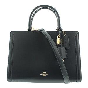 COACH [Coach Ladies / Bag F49500 IMBLK جلد Zoe Carryall / أسود]
