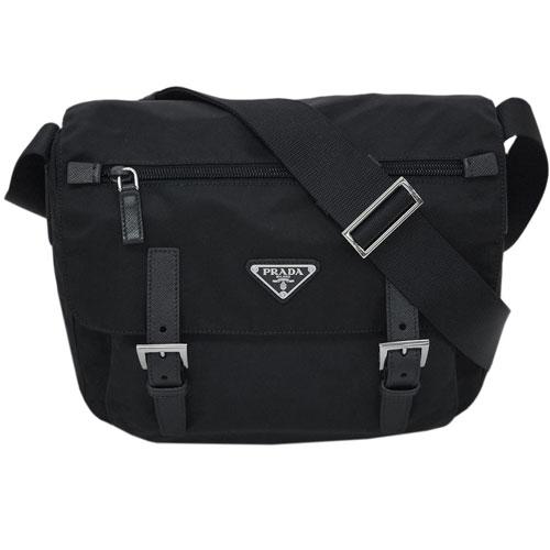 男女兼用バッグ, ショルダーバッグ・メッセンジャーバッグ P9 1BD953 PRADA 29x27 VELA NERO 5R2611 1:59