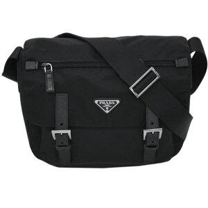 [300 yen OFF coupon] Prada bag 1BD953 PRADA Shoulder bag Medium 29x27 Flap with front pocket VELA NERO Nero Nylon black outlet