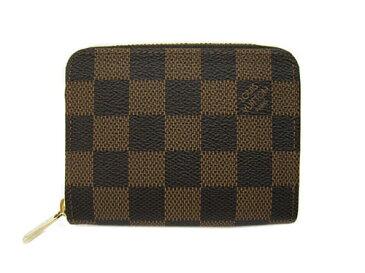 ルイヴィトン 財布 N63070 LOUIS VUITTON ヴィトン ダミエ LV ラウンドジップ コインケース 小銭入れ ジッピー・コインパース 専用箱付き キャッシュレスで5%還元!