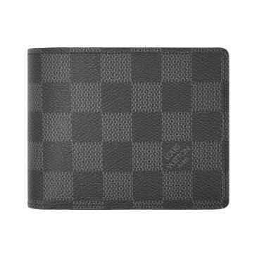 ルイヴィトン 財布 N62663 LOUIS VUITTON ヴィトン LV ダミエ・グラフィット メンズ二折り斜めカードポケット財布 ポルトフォイユ・ミュルティプル 専用箱付き キャッシュレスで5%還元!