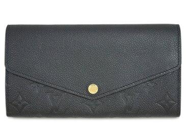 ルイヴィトン 財布 M61182 LOUIS VUITTON ヴィトン モノグラム・アンプラント LV ファスナー長札 ポルトフォイユ・サラ ノワール 専用箱付き キャッシュレスで5%還元!