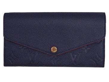 ルイヴィトン 財布 M62125 LOUIS VUITTON ヴィトン モノグラム・アンプラント LV ファスナー長札 ポルトフォイユ・サラ マリーヌルージュ 専用箱付き キャッシュレスで5%還元!