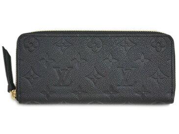 ルイヴィトン 財布 M60171 LOUIS VUITTON ヴィトン モノグラム・アンプラント LV ラウンドジップ長財布 ポルトフォイユ・クレマンス ノワール 専用箱付き キャッシュレスで5%還元!