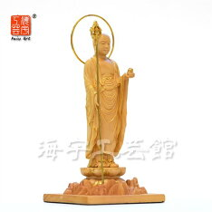 【小仏】シリーズ【地蔵菩薩立像】柘植金泥付総高10.8cm本格ミニ仏像