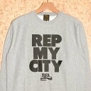 WHOLENINE [ホールナイン] トレーナーWCS003-H1617 REP MY CITY CREW NECK SWEATSHIRT