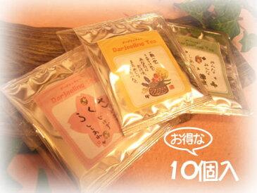 ごあいさつ紅茶(お得な10個入)【御礼】【プチギフト】【感謝】【退職】【ダージリンティ】