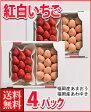 福岡産紅白いちごあまおう&淡雪4パック