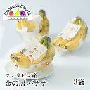 【送料無料】フィリピン産 天晴れ農園 金の房 バナナ 3袋