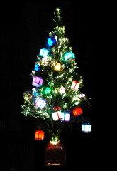 七色に変化するクリスマスツリー!イルミネーション虹色♪ファイバーツリー(120cm)★LEDマルチ】