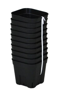 硬質ポットなので丈夫で長持ち。スリットにより、根がのびのびと育つ!/プレステラ105型10ケ組...