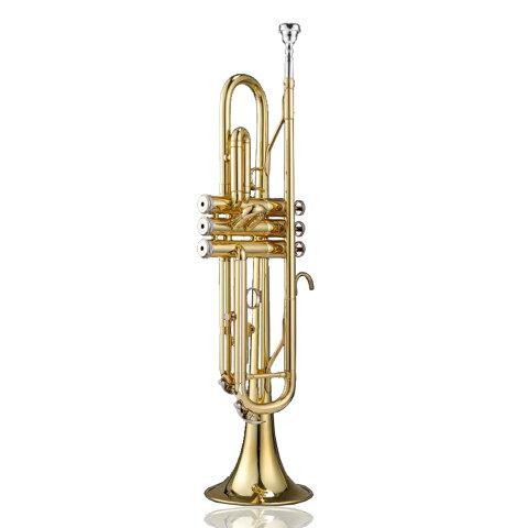 【あす楽対応】 初心者入門 5点セット Bb B フラット トランペット 黄銅製 吹奏 金管楽器