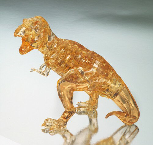 クリスタルパズル ティラノサウルス・ブラウン【ビバリー】【3Dパズル 立体パズル 3Dジグソークリスタル】