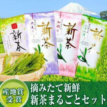 日本茶 お茶『新茶まるごとセット』 『大走り』100g+ 『初摘み』100g+ 『八十八夜』100g+ 『新茶 旬の里』100g