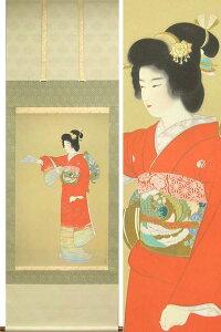掛け軸・日本画壇に名を連ねる『巨匠』の作品を美麗に複製上村松園 掛け軸  『序の舞』 送料...