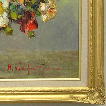 絵画 油絵 薔薇(ばら) F30号 (渡部ひでき) 送料無料 【肉筆】【油絵】【花】【大型絵画】