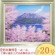 絵画 油絵 桜島の桜 F20号 (木村由記夫) 送料無料 【肉筆】【油絵】【日本の風景】【大型絵画】