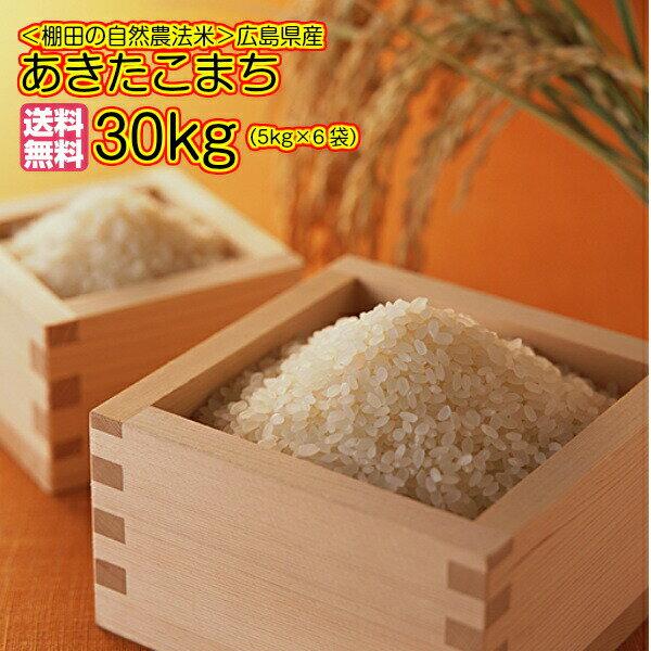 送料無料 広島県産あきたこまち 30kg 5kg×6無地袋 令和2年産...