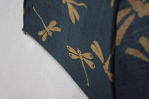 麻の日傘シンプルなお仕立ての藍渋とんぼ