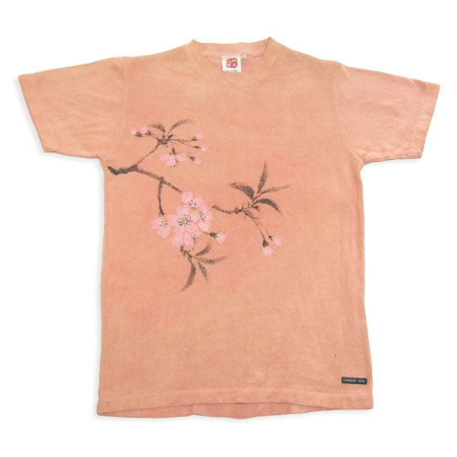 藤紫に藤 草木染めヘンプコットン手描きTシャツ