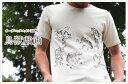 オーガニックコットン手描きTシャツ 鳥獣戯画