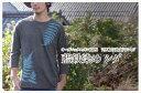 オーガニックコットン7分袖(7分丈)Tシャツ 藍鉄染め シダ