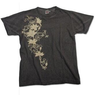 柿子汁染媒鐵絲,大麻的棉質 T 恤