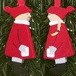 ラッセントレーLarssonsTraオーナメントクリスマスボーイクリスマスガール【スウェーデンオブジェオーナメント木かわいい北欧雑貨インテリアおしゃれプレゼント飾りパーティ】