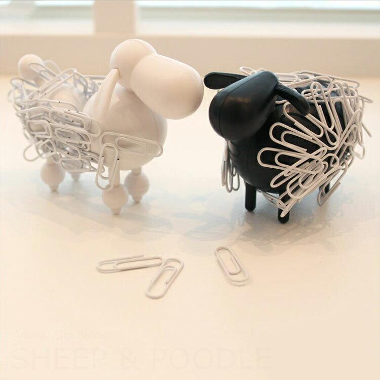 アニマルクリップホルダー Sheep&poodle 動物 文房具 ひつじ 羊 デスク オフィス 学校 文具 おもしろ 整理 ホルダー プードル 犬 シープ 北欧 テイスト おしゃれ 雑貨 プレゼント 女性
