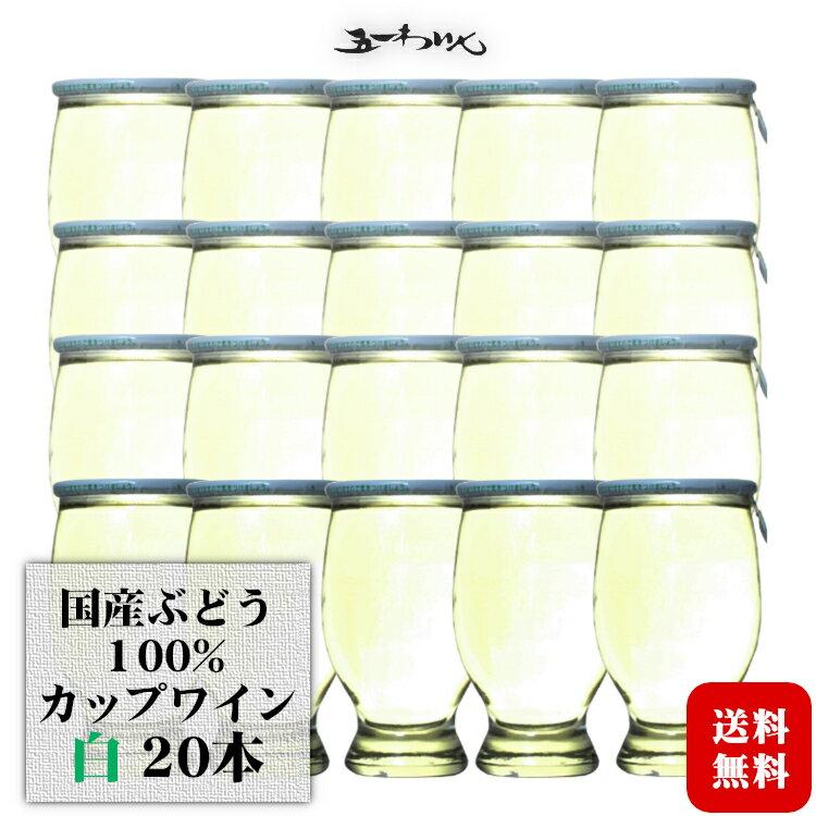 五一わいん カップワイン 白 120ml×20本 1ケース / 日本ワイン 飲みきりミニサイズ 長野 桔梗ヶ原ワインバレー