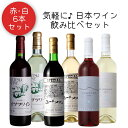 気軽に楽しみたい日本ワイン赤白6本セット-A / 井筒ワイン 五一わいん 山辺ワイナリー 安曇野ワイナリー〔スタンダード赤・白、スペシャル赤・白、コンコード辛口・ナイアガラ辛口〕フルボトル 父の日