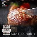 牛醤ハンバーグ お歳暮 ギフト 冷凍 お取り寄せ 送料無料 格之進 (10個セット) 国産 牛肉 白金豚 無添加 1