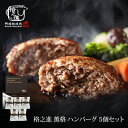 格之進 薫格 ハンバーグ 5個セット ギフト 冷凍 送料無料 無添加 国産牛 白金豚