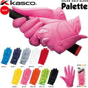 ゴルフグローブ kasco キャスコ Palette パレット レディース両手用 カラーグローブ SF-1515LW